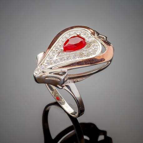 Серебряный перстень Джульетта (красный)