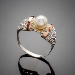 Парадиз - серебряное кольцо (белый)