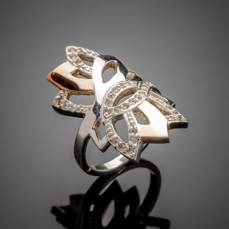 Серебряное кольцо Кассандра