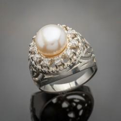 Серебряное колечко Леди с жемчугом