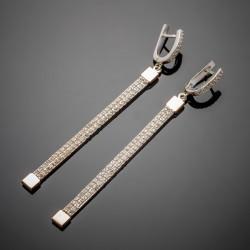 Серебряные серьги Лиана