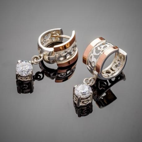 Карина - женские серебряные серьги
