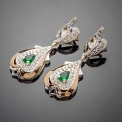 Шикарные серебряные серьги Джульетта с фианитом