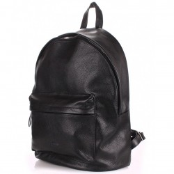 BACKPACK Leather BLACK Poolparty Кожаный рюкзак