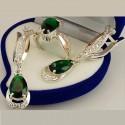 Серебряный набор Артемида (кольцо и серьги)