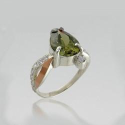 Серебряное кольцо Артемида (олива)