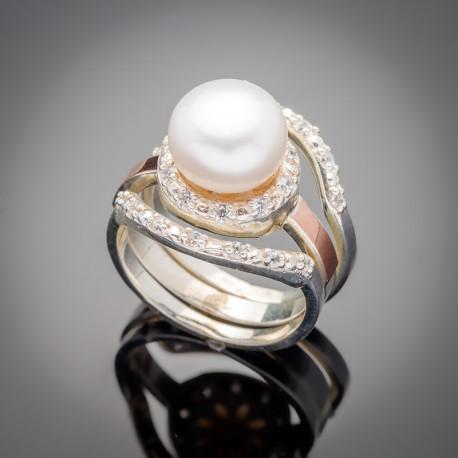 Набор серебряных колец Лисма (белый)