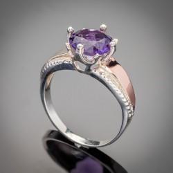 Женское серебряное кольцо Лада с цирконием