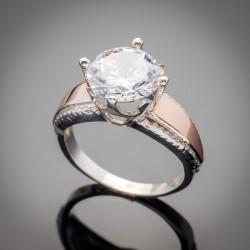 Женское серебряное кольцо Лада (белый)