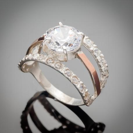 Серебряное кольцо Василиса