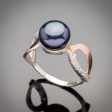 Серебряное кольцо Лотос