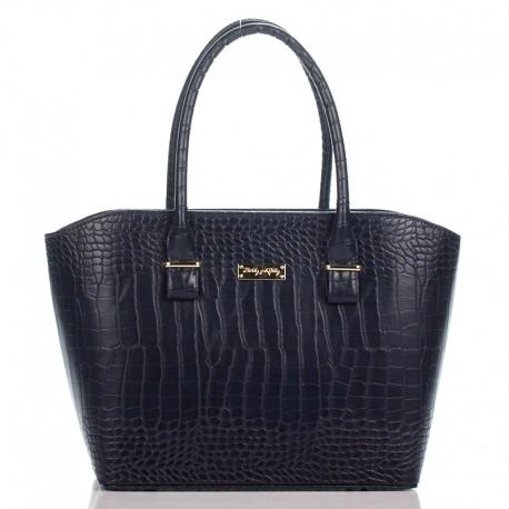 Женская сумка из эко-кожи (синяя)