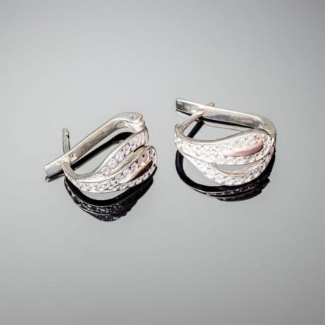 Серебряные серьги Мальва
