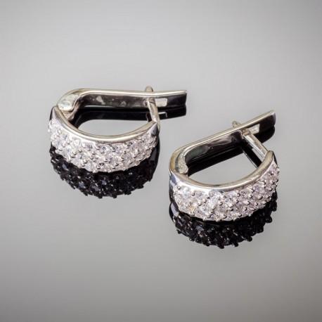 Серебряные серьги Агата