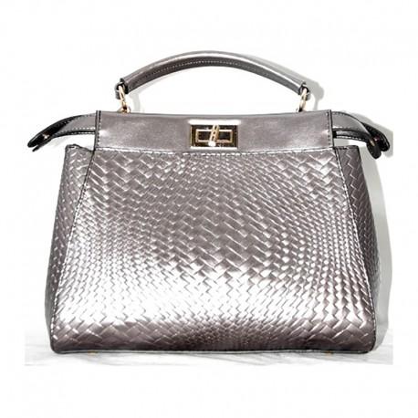Двусторонняя сумка-портфель (серебро)