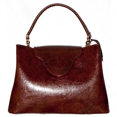 Глянцевая сумка Betty Pretty (коричневый)