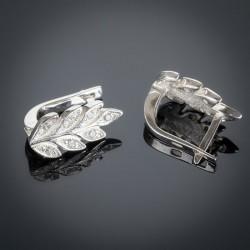 Серебряные серьги Колосок