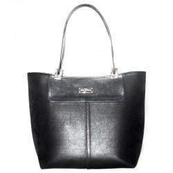 Женская сумка с отделкой, велюр+эко-кожа