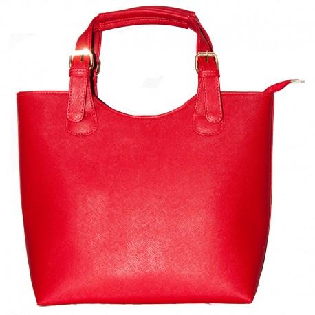 Женская сумка-шоппер (красный)