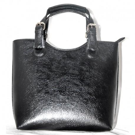 Удобная женская сумка-шоппер (черный)