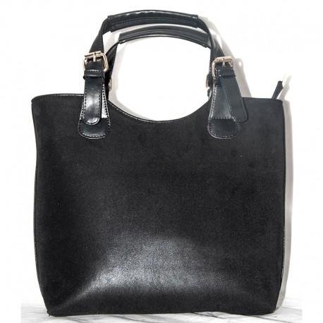 Велюровая сумка-шоппер