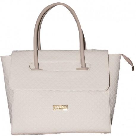 Женская сумка с клапаном (бежевый)