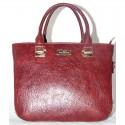Глянцевая женская сумка из эко-кожи