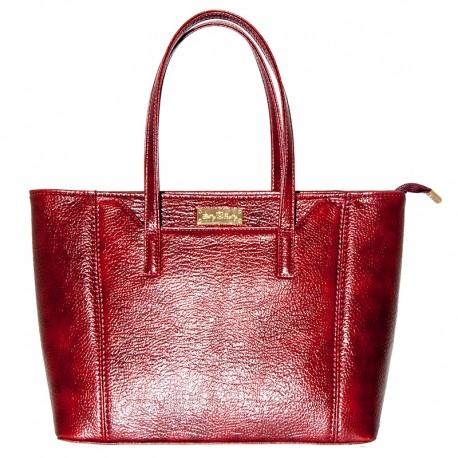 Женская сумка с карманом (бордо)