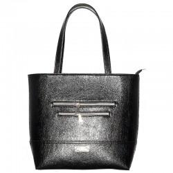 Прямая сумка с карманами, эко-кожа