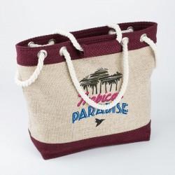 Пляжная сумка TROPIKAL из рогожки, ручки - канат