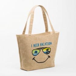 Женская пляжная сумка с вышивкой