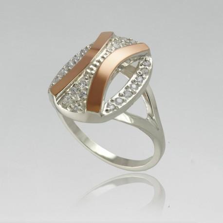 Серебряное кольцо Монэ