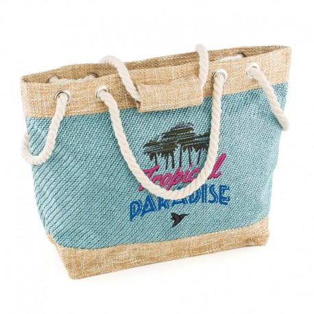Пляжная сумка TROPIKAL PARADISE (голубой)
