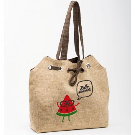 Летняя сумка Арбуз (бежевый)