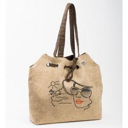 Летняя сумка Леди с вышивкой
