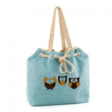 Летняя сумка СОВУШКИ (голубой)