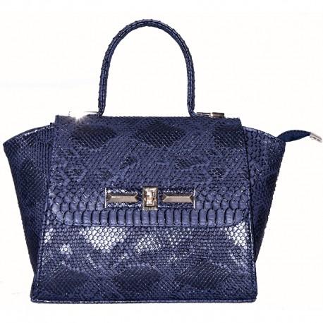 Женская сумка с клапаном (синий)
