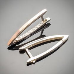Удлиненные серебряные серьги Стрела