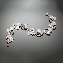 Женский серебряный браслет Фиалка