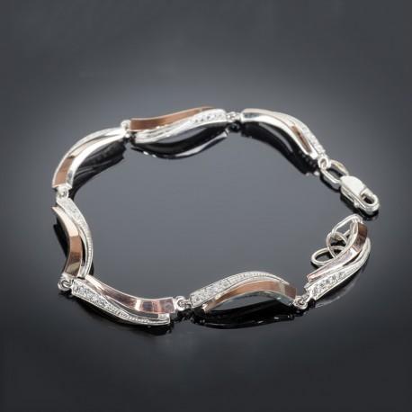 Женский серебряный браслет Кипарис