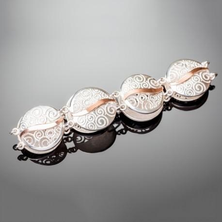 Женский серебряный браслет Волна