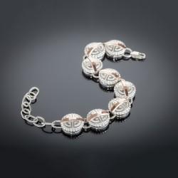 Женский серебряный браслет Амазонка