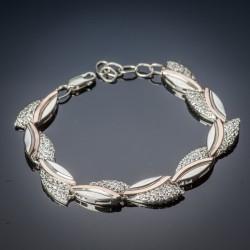 Женский серебряный браслет Бутон