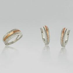 Набор из серебра 925 пробы ВИКТОРИЯ (кольцо и серьги)