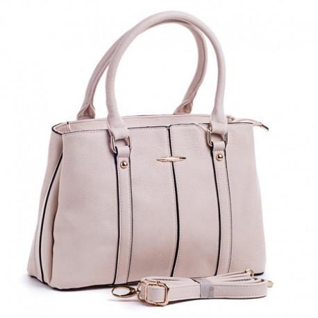 Удобная сумка из эко-кожи (бежевый)