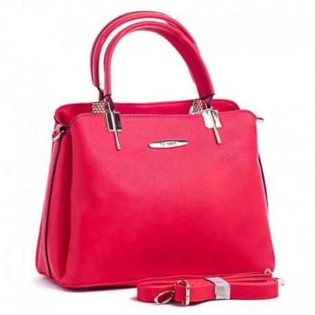 Женская сумка с ремнем (красный)