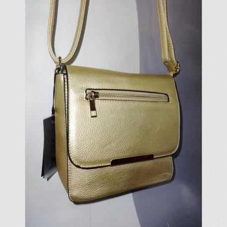 Однотонная сумочка на ремне (золото)