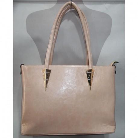 Прямая сумка из кожзама (бежевый)