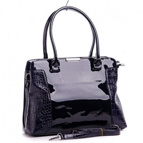 Лаковая сумка (черный)