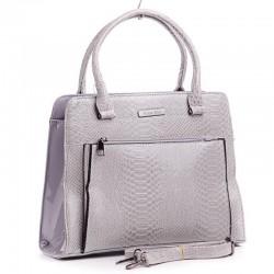 Лаковая сумка с большим карманом
